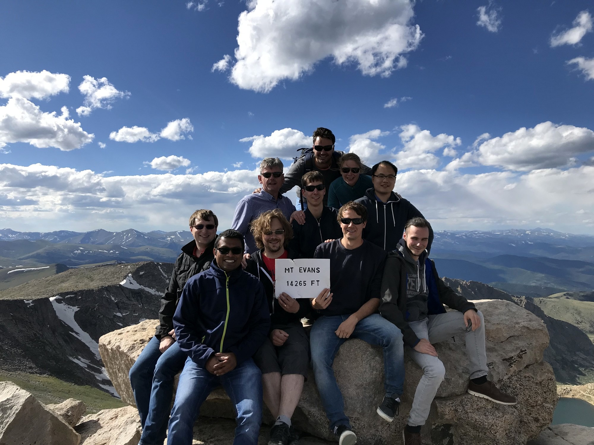 The AOT-TP research team on top of Mount Evans